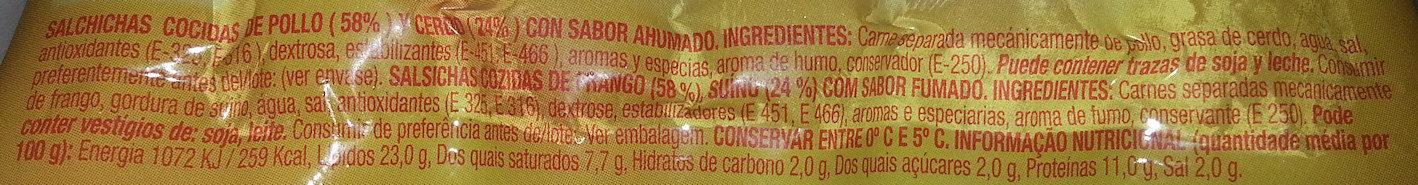 Wieners classic - Ingredientes - es