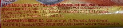 Wieners classic - Información nutricional - es