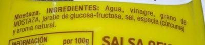 Mostaza - Ingredients - fr