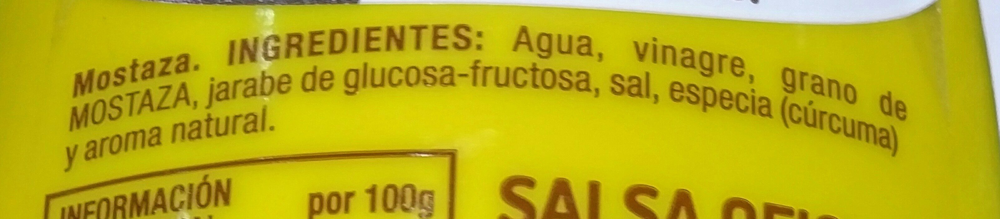 Mostaza - Ingrediënten - fr