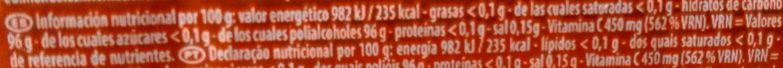 Citrus Mix - Información nutricional