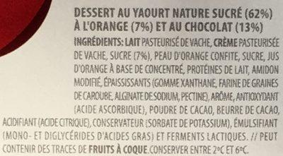 Caprichos de Yogur Naranja & Chocolate - Ingredients