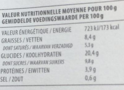 Caprichos de Yogur Naranja & Chocolate - Nutrition facts