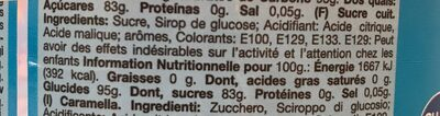Sucette - Ingredients - fr