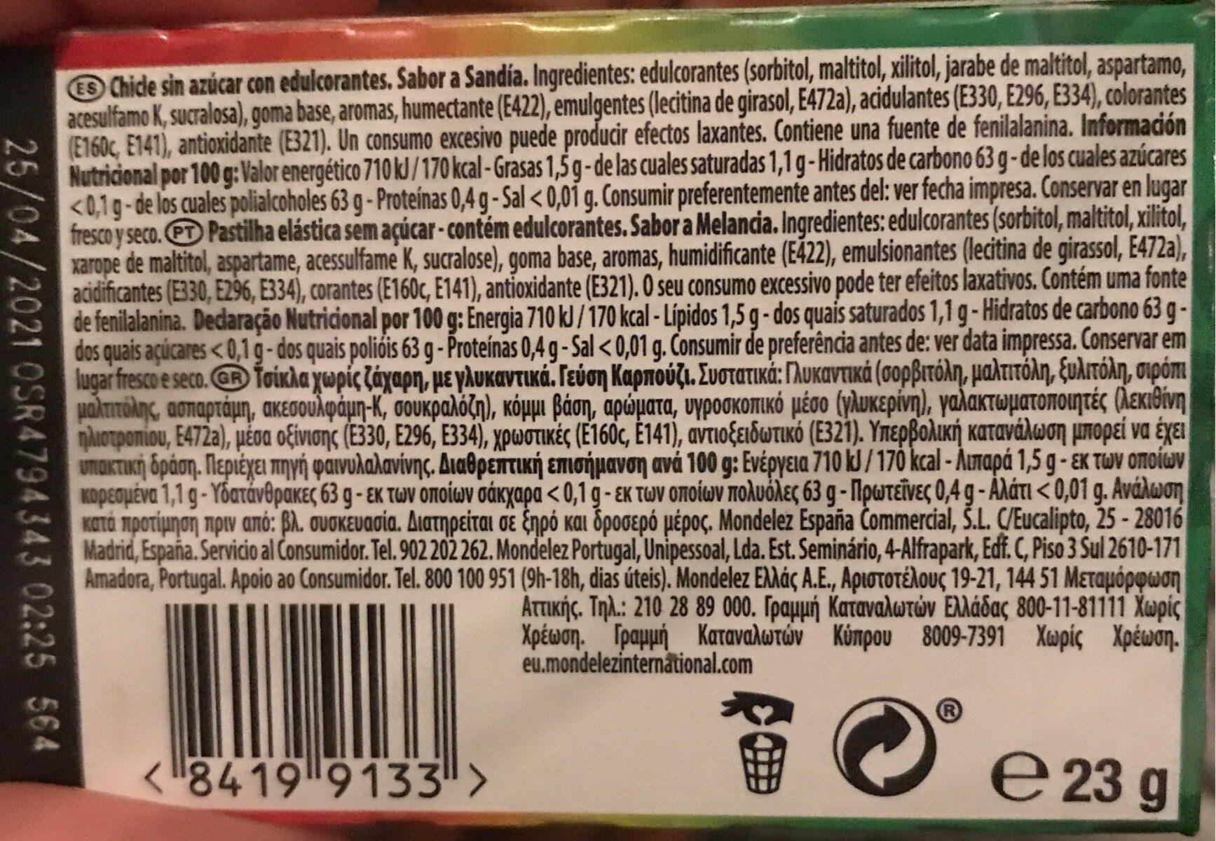 Senses - Informations nutritionnelles - es