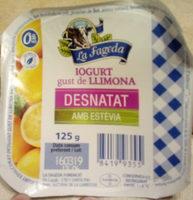 Yogur desnatado de limon con stevia - Producte - ca