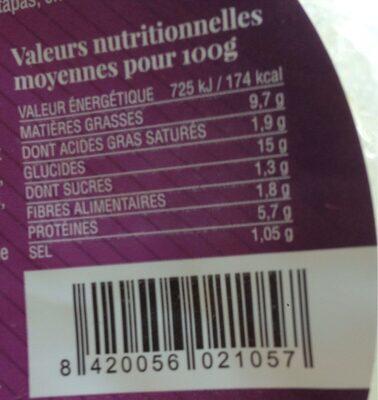 Te Gusta, Tortilla Aux Lardons, Le Paquet, 500g - Voedingswaarden - fr