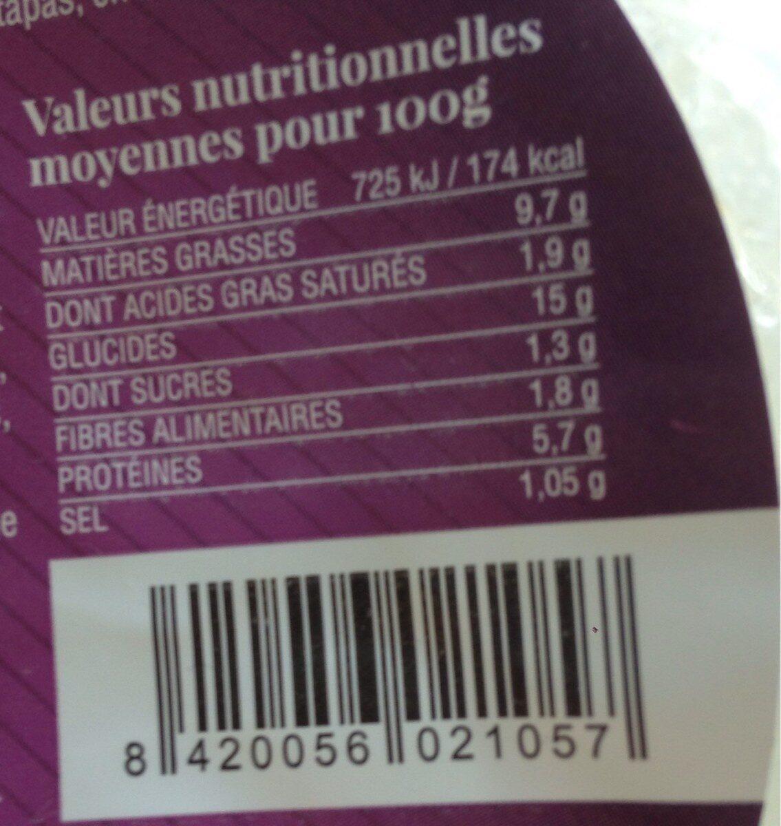 Te Gusta, Tortilla Aux Lardons, Le Paquet, 500g - Informations nutritionnelles