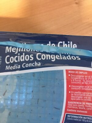 Mejillones de Chile cocidos congelados - Ingrediënten