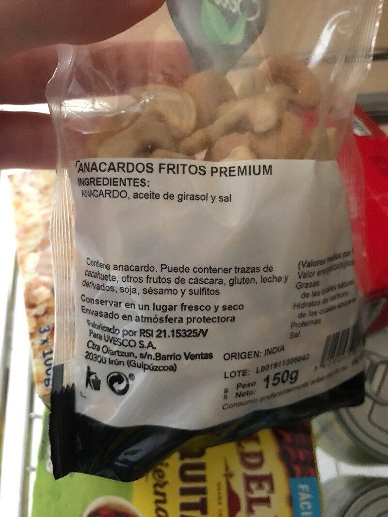 Anacardos - Ingredientes - es