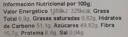 Pan de higo con almendras - Informations nutritionnelles - es
