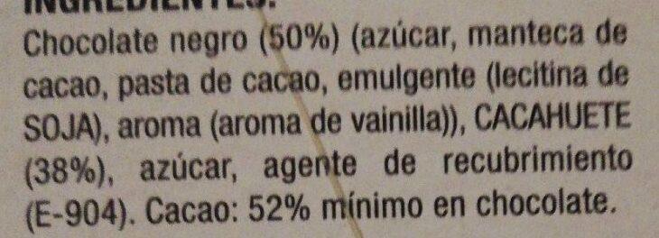 Bombones de cacahuetes - Ingredients - es