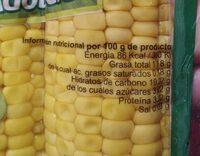 Maïs doux - Nutrition facts - es