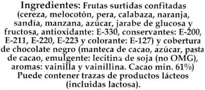 "Frutas de Aragón ""Nakoa"" - Ingredientes"