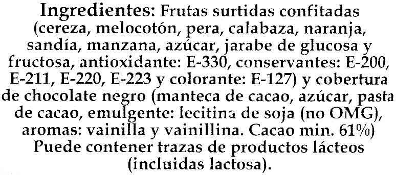 """Frutas de Aragón """"Nakoa"""" - Ingredients"""