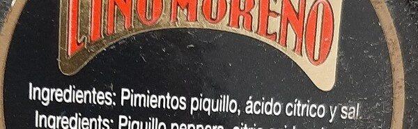 Pimiento piquillo - Ingrédients - es