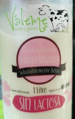Leche fresca semidesnatada sin lactosa