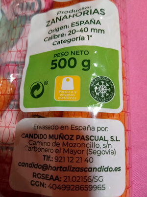 Zanahorias - Ingrédients