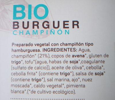 Bio burguer Champiñon - Ingrédients - es
