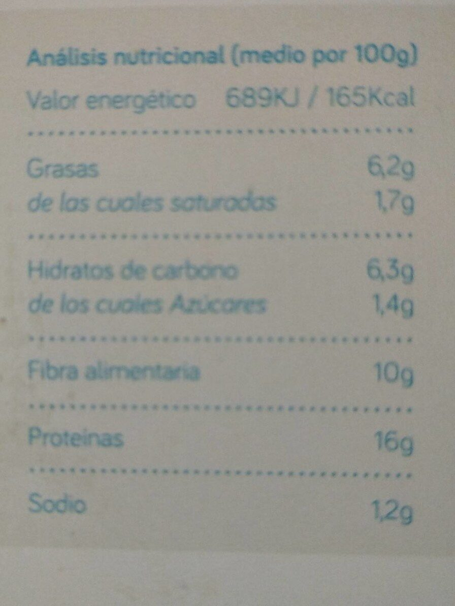Bio burguer Champiñon - Informations nutritionnelles - es