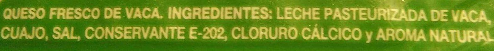 Queso fresco Burgos - Ingrediënten
