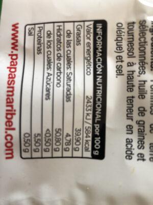 Papas Maribel - Nutrition facts