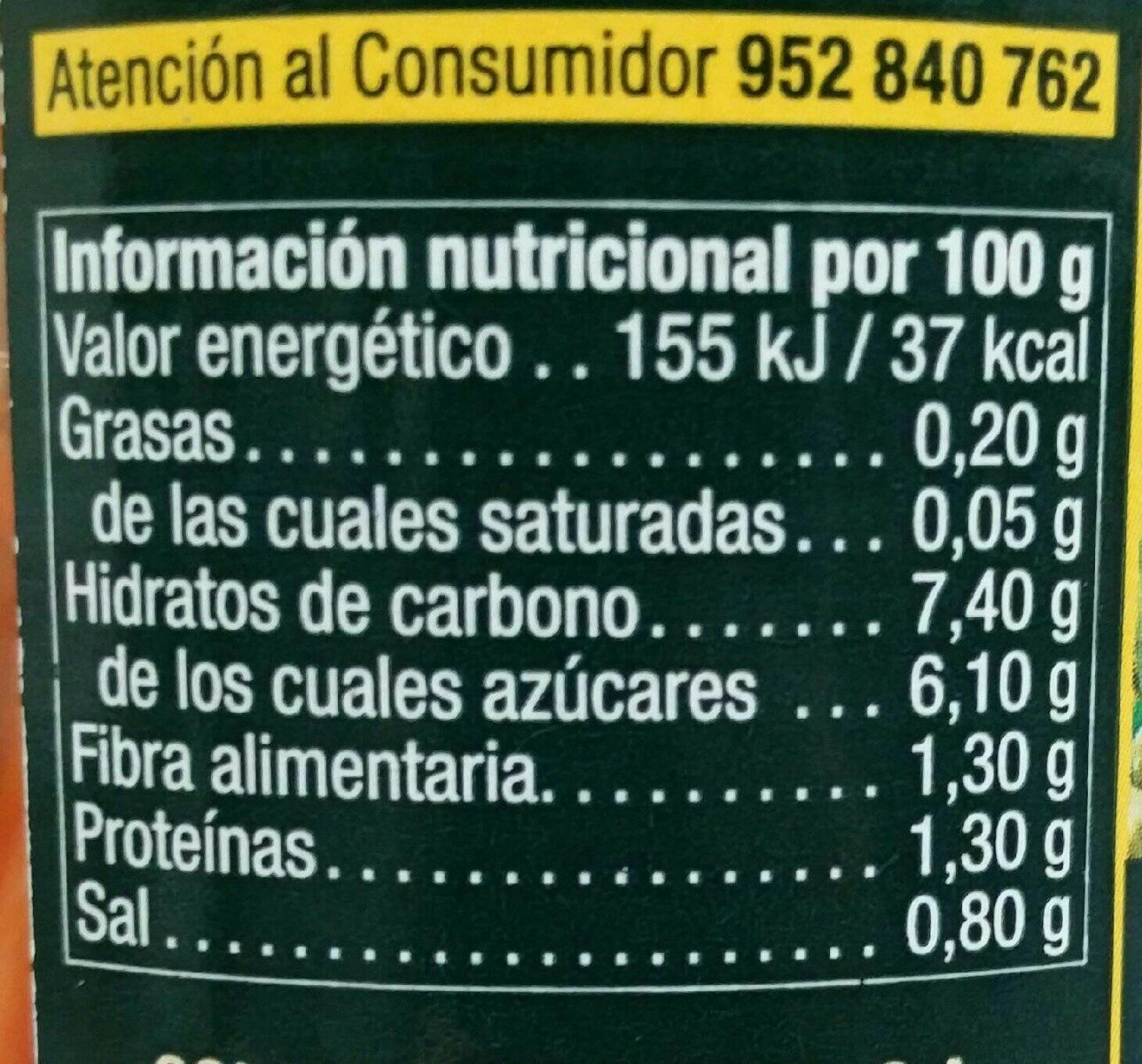 Ensalada china - Nutrition facts - es