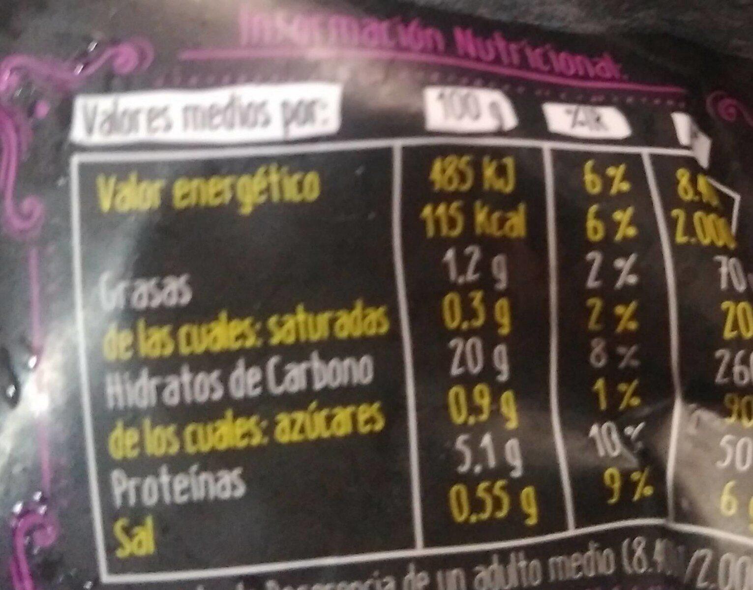 Arroz 3 delicias el pozo - Información nutricional - es