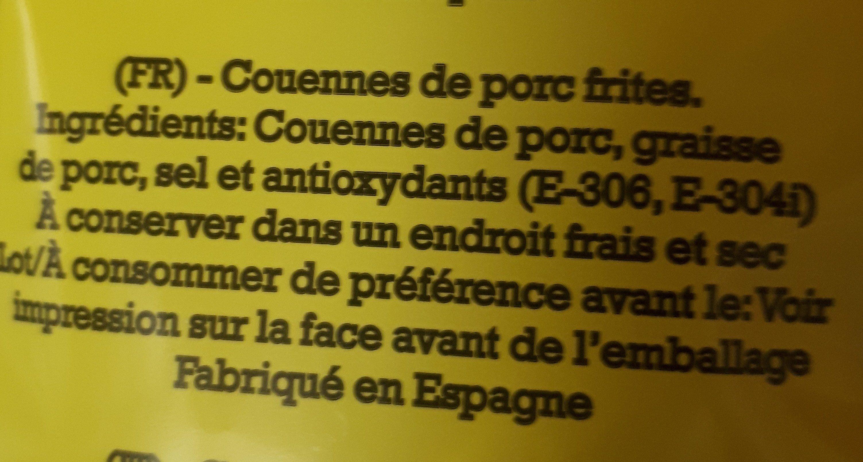 Cortezas - Ingrédients - fr