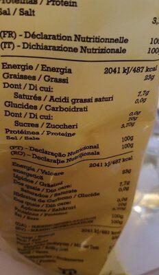 Cortezas - Informations nutritionnelles - fr