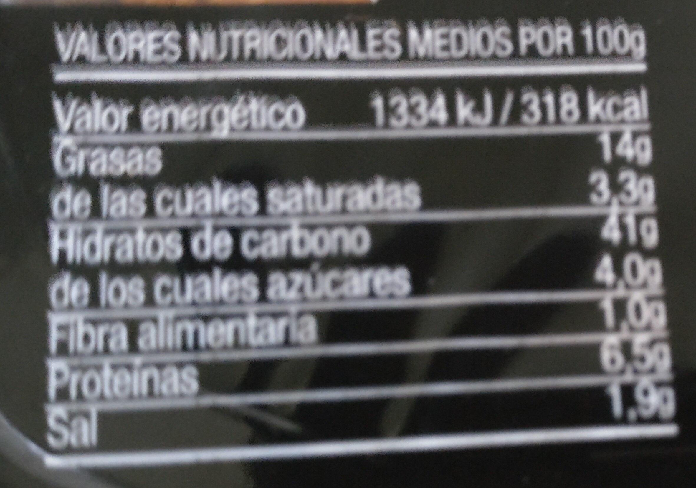 Migas con jamón - Informations nutritionnelles - es