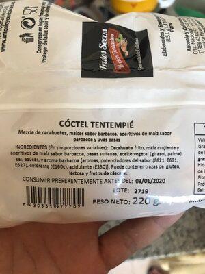 Frutos secos recién tostados - Ingredientes