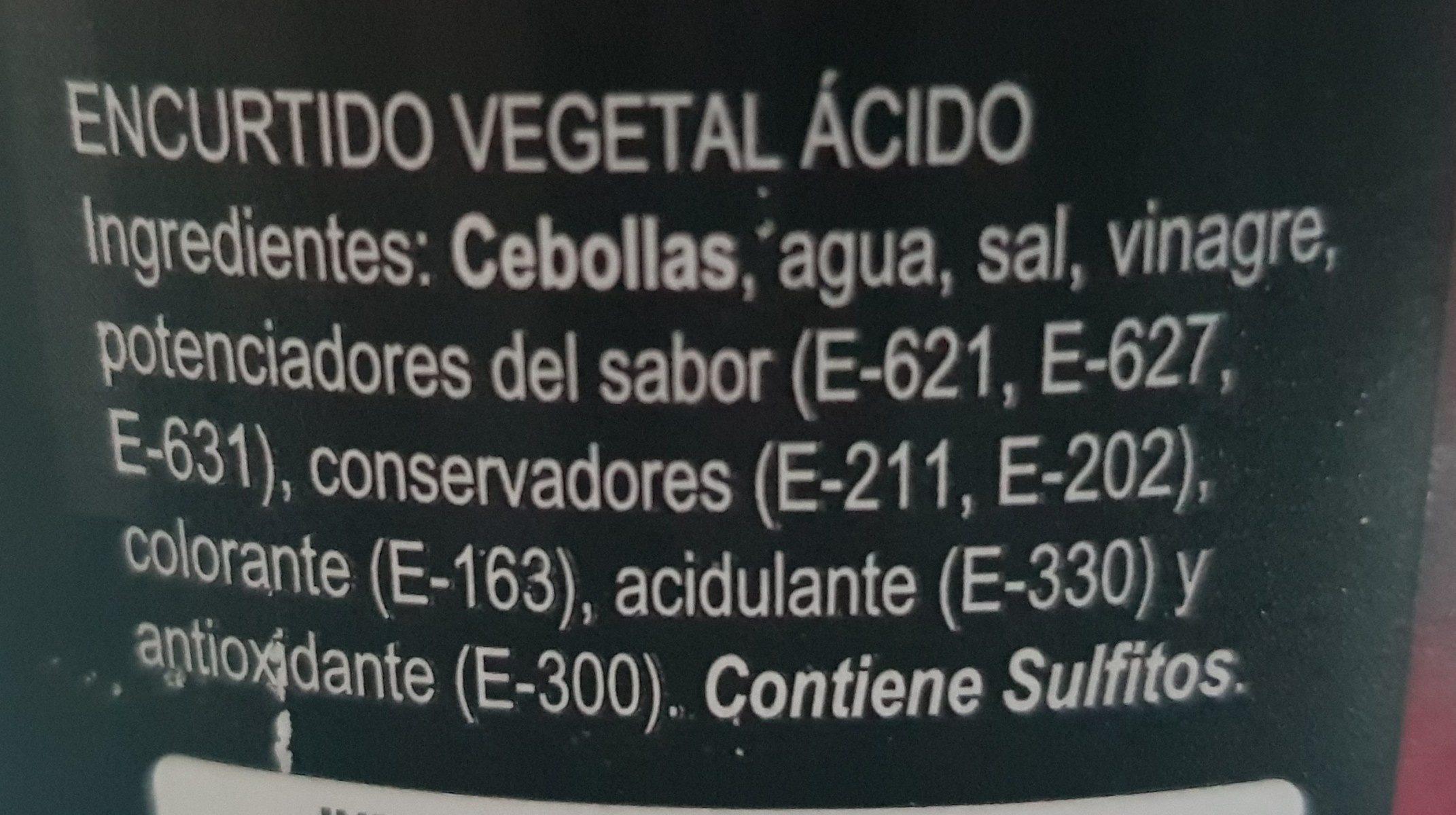 Cebollas rojas - Ingrediënten