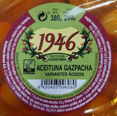 Aceituna gazpacha - Informació nutricional - es