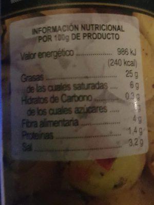 la receta del Cortijo - Información nutricional