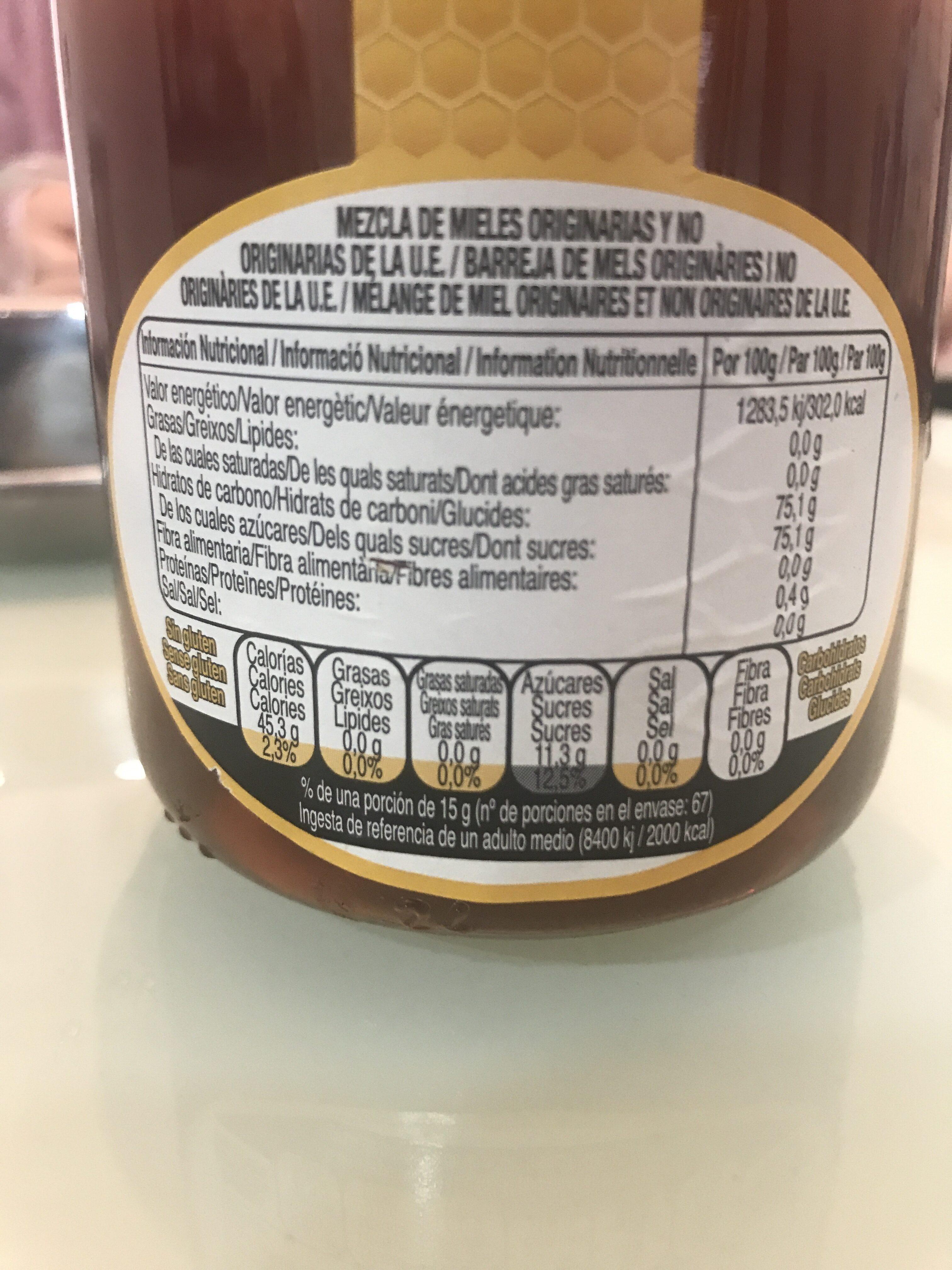 Mel d'eucaliptus - Información nutricional - ca