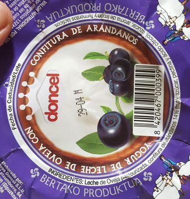 Yogur de leche de oveja con confitura de arándanos - Ingredientes