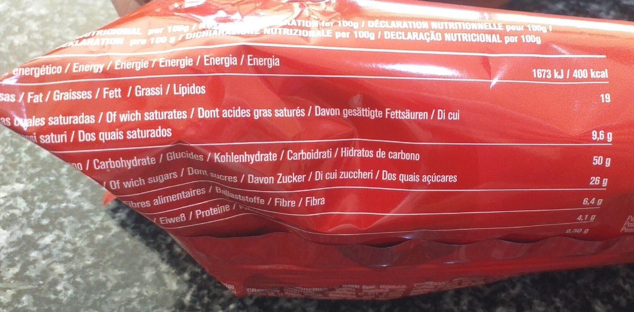 Croissant relleno de chocolate - Informations nutritionnelles - es