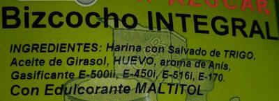 Bizcochos integral - Ingredients