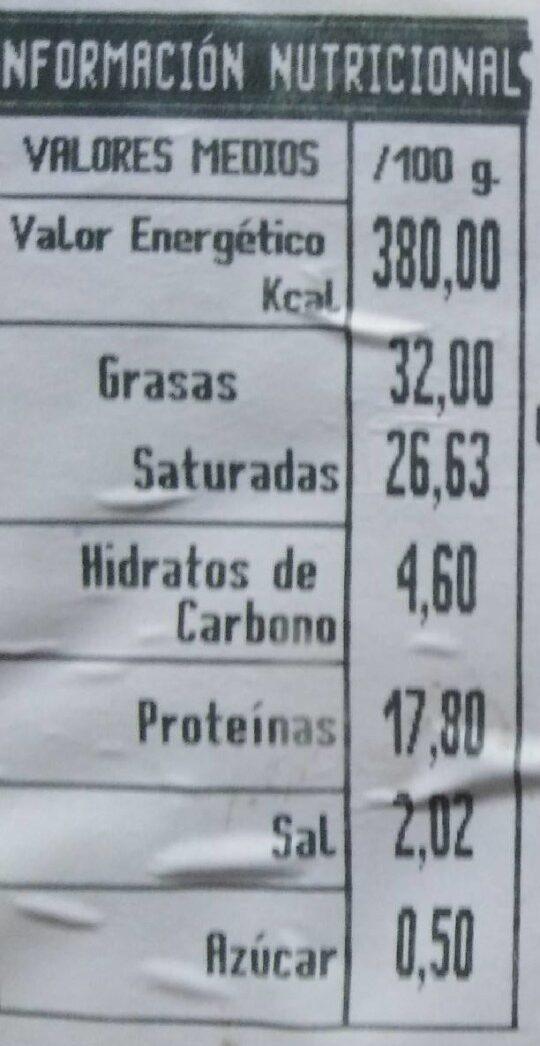 Queso Reino De Leon - Información nutricional