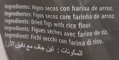 Higos secos con harina de arroz - Ingredientes
