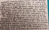 Empanada de Atún Hojaldre - Ingredientes - es