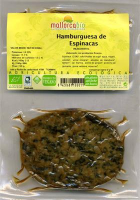 Veggie burguer espinacas - Producte - es