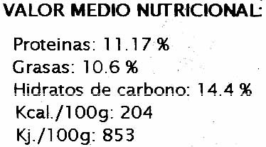Hamburguesas vegetales Calabaza y pasas - Nutrition facts - es