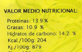 Hamburguesas vegetales Pisto - Información nutricional - es