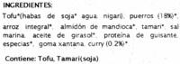 Veggie Burger Puerro al curry - Ingredientes - es