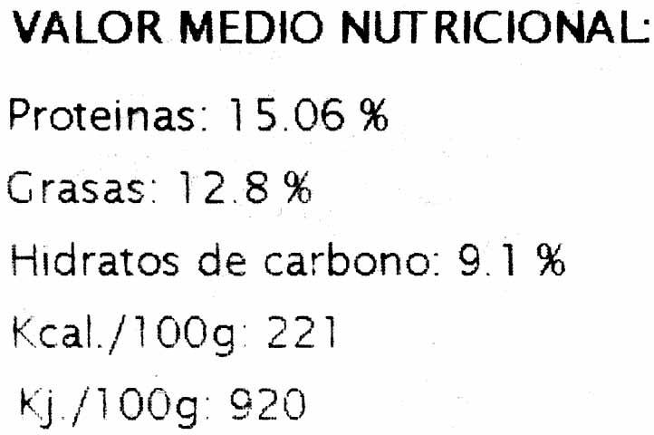 Veggie Burger Puerro al curry - Información nutricional - es