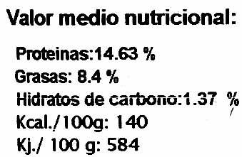 """Tofu ecológico """"Mallorca Bio"""" Natural - Voedingswaarden - es"""
