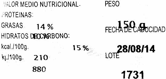 Hamburguesas vegetales Hortalizas - Nutrition facts - es
