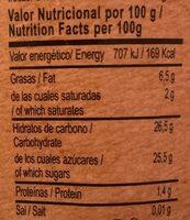 helado de chocolate vegano - Informations nutritionnelles